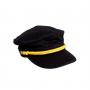 20早秋Mini Rodini贝雷帽复古帽子遮阳帽男女童宽帽檐船长帽子