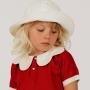 20夏Mini Rodini 新款女童帽围巾太阳帽遮阳帽防晒沙滩大帽檐两用