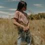 20春夏tinycottons女童短袖T恤连体裤半身裙复古条纹上衣休闲宽松