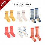 20春夏 tinycottons 儿童袜子中筒袜长袜格子百搭街舞袜子个性