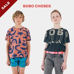 20春夏BOBO CHOSES 男女童短袖t恤短裤有机棉舒适个性时尚摇滚