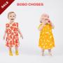 20春夏BOBO CHOSES 女宝宝婴儿连衣裙超萌小清新爱心蝴蝶结