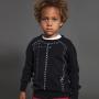 20春夏NUNUNU儿童套头针织衫毛衣薄款上衣长袖线稿印花潮黑色酷