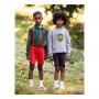 20春夏 Mini rodini 儿童衬衫条纹撞色衬衣长款防晒衣海滩罩衫