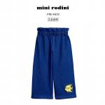 Mini Rodini 女童牛仔长裤子小鱼刺绣阔腿裤收腰百搭ins潮