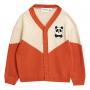 Mini Rodini儿童熊猫羊毛针织开衫保暖外套套头毛衣经典款