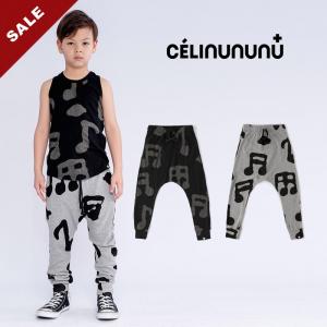 20春夏NUNUNU合作款儿童休闲裤长裤子潮哈伦个性街舞运动长裤